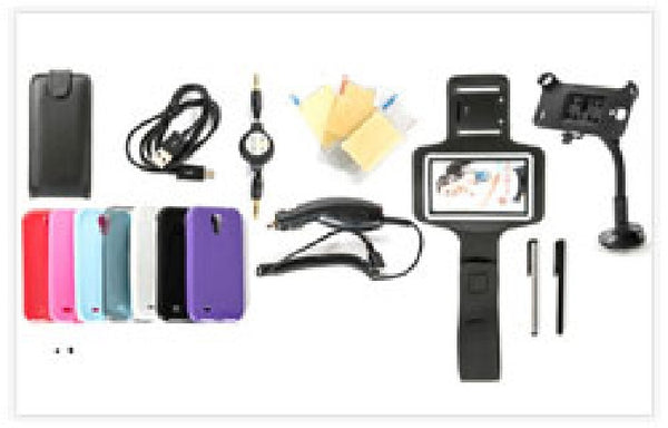 !     A     !    *** $ave 50% *** 20-Item Accessories Bundle For Samsung Galaxy S4, Accessory Bundles, TiGuyCo Plus - TiGuyCo Plus