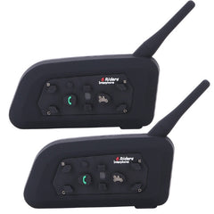 !! A !! BTI Interphone Bluetooth Motocycle 2 Pieces Intercom System - V6 Motorcycle Helmet Bluetooth Intercom Headset Intercomunicator - V6-1200