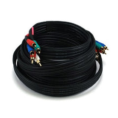 25 ft. 5-RCA Component Video/Audio Coaxial Cable (RG-59 U) - Black