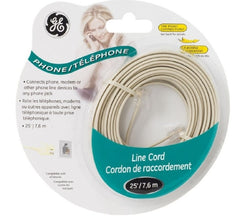 25ft. GE Phone Cord - White - 20480