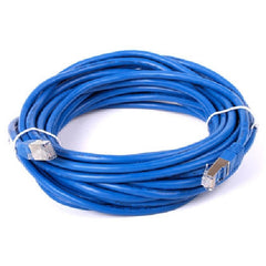 30 ft. Blue Cat7 600MHz Screened Shielded Twisted Pair (S/STP) Network Cable with Metal Connectors