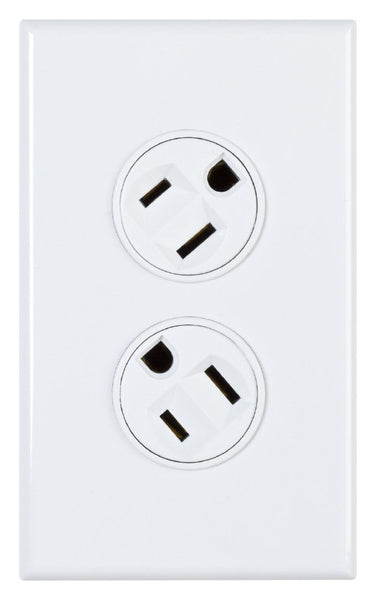 360electrical Rotating Duplex Outlet - White, Wallplates, 360electrical - TiGuyCo Plus