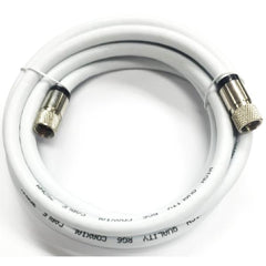 3 ft. RG6 F-Type Video Coaxial Cable - White