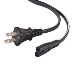 5 ft. 2 Prong AC Power Cord Cable for Laptops - Black