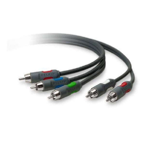 6 ft. BELKIN HDTV Cable Kit - 3-RCA Video & 2-RCA Video Cables, Audio/Video Cables, Belkin - TiGuyCo Plus