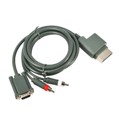 !!! A New Addition !!! 6 ft. High Definition VGA - Video & Audio Compatible Cable for Microsoft Xbox 360 - Gray - 69790