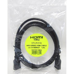 6 ft. High Speed HDMI Cable with Ethernet 1.4c - Male/Male - Black