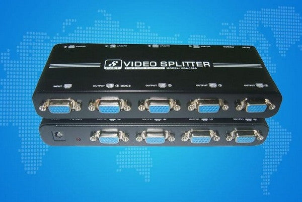 8-PORT High Quality Video Splitter - 1920x1440 - 550MHz, Splitters & Combiners, Various - TiGuyCo Plus