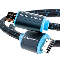 15 ft. BlueDiamond Premium HDMI 4k UltraHD Certified Cable with Ethernet - Black/Blue