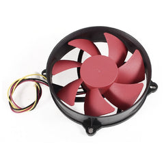 80mm 3-Pin Connector DC 12V 0.18A CPU Cooler Cooling Fan - Red
