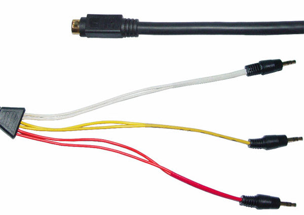 accord 5 1 surround sound cable - 9pin mini din plug to 3x 3 5mm stereo  jacks
