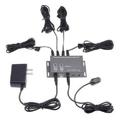IR Infrared Remote Control Extender Emitter Kit - 4 IR Emitters - 1 IR Receiver - Hidden IR Control System for Home Theater