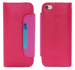 !     A     !    *** $ave 50% *** AOKO Wallet Case - iPhone 5-5S - Pink