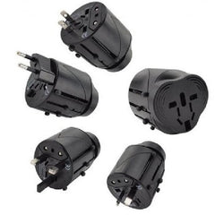 All-In-One Universal Travel Wall Charger Adapter Plug AU/UK/US/EU - Black