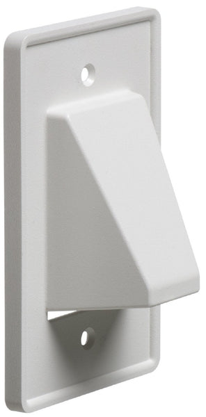 Arlington CE1-1 Recessed Reversible Low Voltage Cable Plate - 1-Gang - White - 1-Pack, Wallplates, Arlington - TiGuyCo Plus