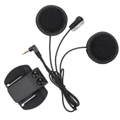 BTI V6 Clip-On Microphone Headset with Spare Clip - Black - Suitable for V6 V4 V2-500C Motorcycle Bluetooth Multi Interphone Headsets