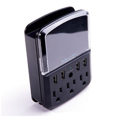 BlueDiamond Defend Space Saver + Charge, 540J, 3 Outlets, 4 Ultra Quick-Charge USB Ports - Black - 36481
