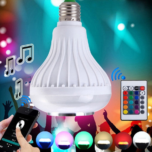 Bluetooth 3.0 Intelligent Light Bulb E27 - Colorful LED - Bluetooth 3.0 Speaker for Home, Speakers, TiGuyCo Plus - TiGuyCo Plus