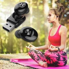 Bluetooth 5.0 XG12 Earphone Wireless HIFI Sound Sport USB Charge Headset - Black