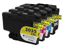 Brother LC3035XXL Compatible Combo Pack BK/C/M/Y Premium Ink - 4 Cartridges