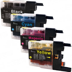 Compatible with Brother LC75XL Combo Pack (BK-C-M-Y) Compatible Premium Ink Cartridges - High Yield - 4 Cartridges
