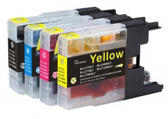 Compatible with Brother LC79XL Black/Cyan/Magenta/Yellow Compatible Premium Ink Combo Pack - 4 Cartridges