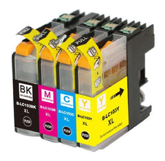Compatible with Brother LC103 BK/C/M/Y Compatible Ink Cartridge Combo - Economical Box - High Yield