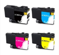 Compatible with Brother LC3037XXL Compatible Combo Pack BK/C/M/Y Premium Ink - 4 Cartridges - LC3037CPK