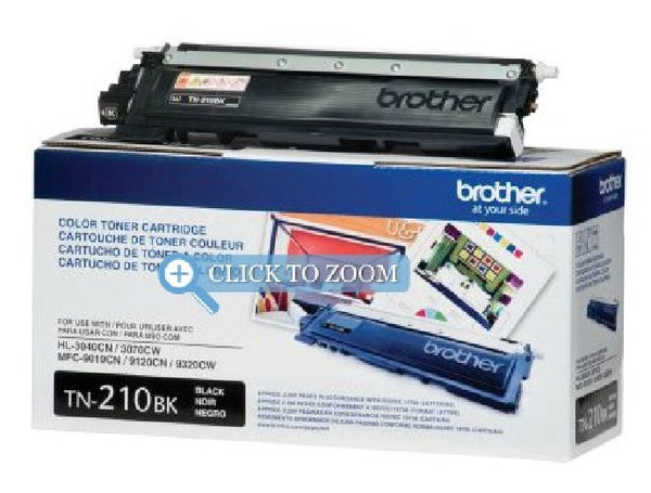 Brother TN-210BK Black OEM Toner Cartridge - Retail Packaging, Toner Cartridges, Brother - TiGuyCo Plus