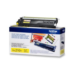 Brother TN-210Y Yellow OEM Toner Cartridge - Retail Packaging