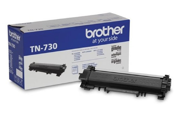 Brother Genuine TN-730 Mono Laser Toner Cartridge - Yield up to 1200 Pages - TN730
