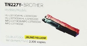 Compatible with Brother TN-227 Yellow Compatible Premium Tone 2.3K