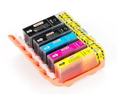 Canon PGI-225/CLI-226 New Compatible Ink Cartridges Econo Pack (PGI-225 Black + CLI-226 Black/Cyan/Magenta/Yellow)