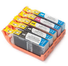Compatible with Canon PGI-250XL and BK-CLI-251XL-BK-C-G-M-Y New Compatible Ink Cartridges Combo Pack with Chip