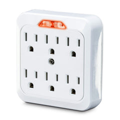 CyberPower Power Plug - NEMA 5-15P - 6 x NEMA 5-15R - 125 V AC Voltage - White - GT600L