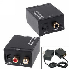 !!! A Back in Stock !!! Digital Coaxial or Toslink to 2-RCA Analog L-R Audio Converter