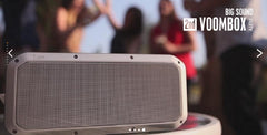 Divoom VOOMBOX-PARTY 2nd Generation - Bluetooth 4.1 - Rugged 20W - 360 Degree True Surround Sound Wireless Stereo Speaker - Space Gray or Slate Gold