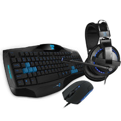 !  A  !  COBRA PRO GAMING - E-Blue 3-in-1 EHM828 Gaming Combo - Headset / Keyboard / Mouse - FOR GAMING STARTER
