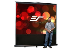 Elite Screens Reflexion 100in. - 4 3 - Manual Projection Screen - Floor Mount - FM100V