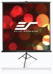 Elite Screens T99NWS1 Tripod Pro Series Projector Screen - 1-1 - 99in. Diagonal (70.0in.W x 70.0in. H) - White Casing