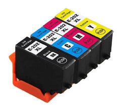 Compatible with Epson 202XL BK/C/M/Y Remanufactured Ink Cartridge High Yield - 4 Cartridges