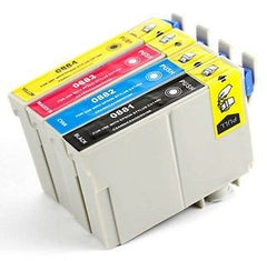 Compatible with Epson T088 Combo Pack - BK-C-M-Y - New Compatible Cartridges -  T088ValuePack