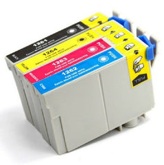 Compatible with Epson T126 (BK-C-M-Y) Compatible Combo Pack Ink Cartridges - 4 Cartridges