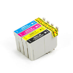 Compatible with Epson T220XL Combo BK/C/M/Y Compatible Ink Cartridges - High Yield - 4 Cartridges - Value Pack