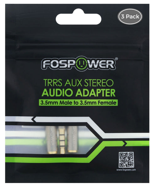 fospower 3.5  FosPower 3.5mm Male to Female Stereo Audio Jack Adapter - Extension ...