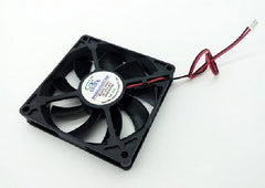 Gdt - DC 12V - 0.24A - 2Pin - 8CM - 80mm x 80mm x 15mm  - 2700RPM Brushless Cooling Fan - Black - Gdt8015