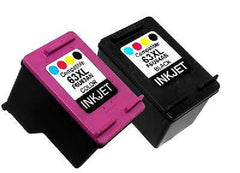 Compatible with HP 63XL Black and HP 63XL Tri-Color Remanufactured Ink Cartridge Combo Pack