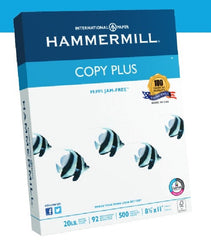 Hammermill 8.5 x 11in. Copy Plus FSC-Certified Paper,  20 lb., 92 Bright, 500 Sheet Pack