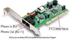 !!! A New Addition !!! Hiro Fax/Modem - PCI -  56 Kbps - V.92 - H23534