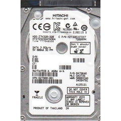 "Hitachi GST Travelstar 320GB - 2.5"" Internal Notebook Hard Drive Bare Drive - 7200 RPM - 16MB Cache - SATA 3.0Gb/s - Z7K320 HTS723232A7A364 - USED - Tested 100% O.K."